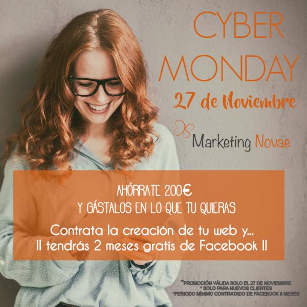 Cyber Monday: creación web + 2 meses gratis Facebook