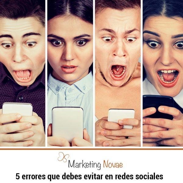Los 5 errores que debes evitar en tus redes sociales