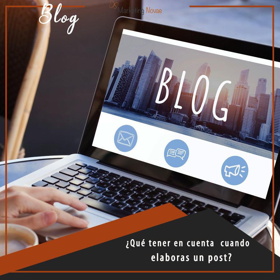 ¿Qué tener en cuenta cuando elaboras un post?