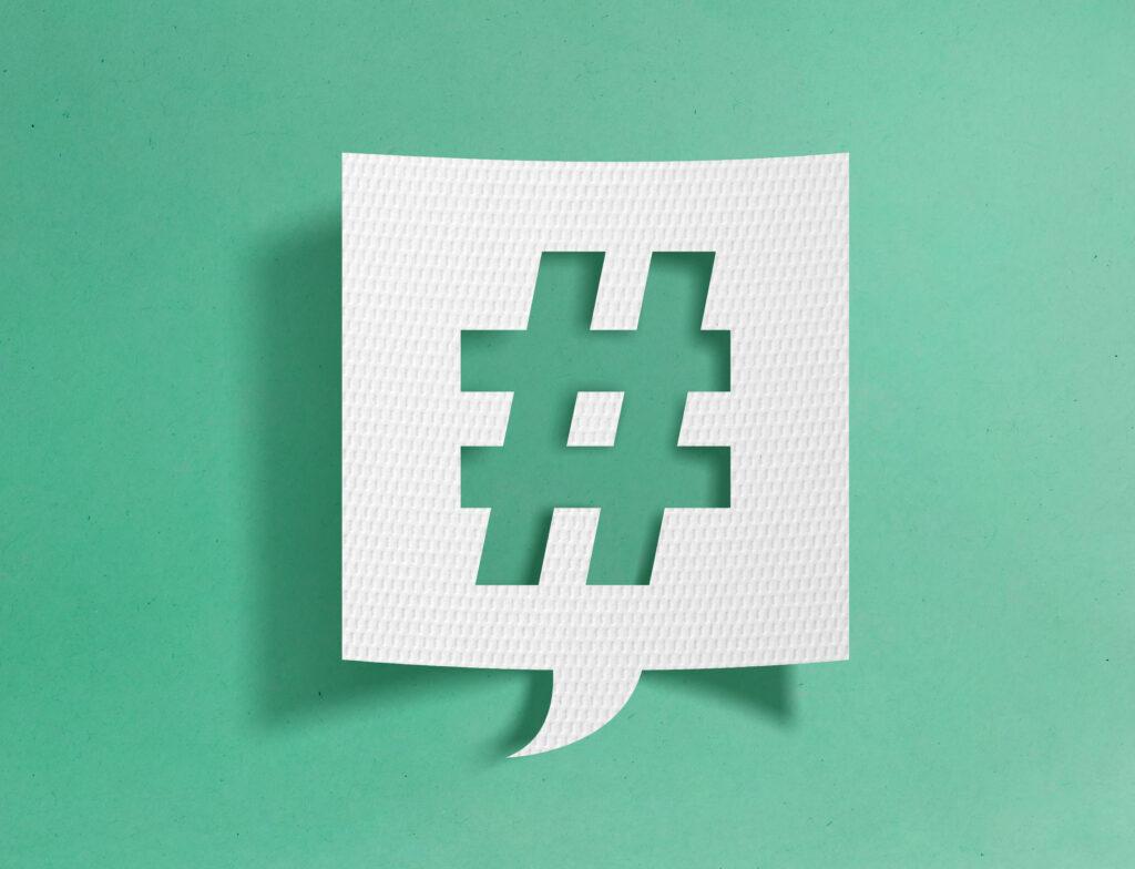 ¿Cómo debo usar el hashtag en mis publicaciones?